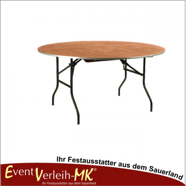 eventverleih bankett tisch rund 152er f r 8 personen. Black Bedroom Furniture Sets. Home Design Ideas