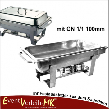 Chafing Dish Set mit GN 1/1 100mm
