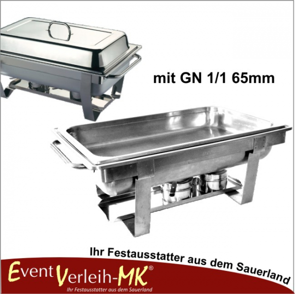 Chafing Dish Set mit GN 1/1 65mm